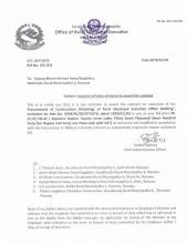 Issuance of letter of intent to award the contract for Rural Municipal Executive Office Building