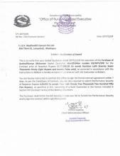 Notification of Award of Purchase of Aushadhijanya Malsaman